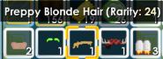 Preppy Blonde Hair