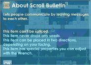 Scroll bulletin