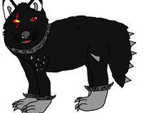 Wolfark ohne Flügel, Skeltt-Rüstung und Wunden