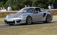 2010 silver 997 GT2 RS at Goodwood FoS