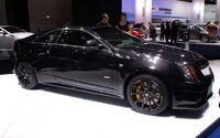 Black Cadillac CTS-V Coupe fr IAA 2011