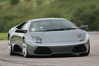 Gray Lamborghini LP640