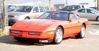 Red Corvette C4 ZR-1