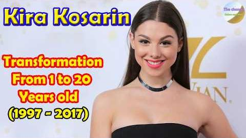 Kira Kosarin transformation from 1 to 20 years old