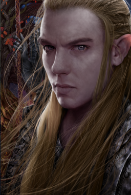 Male elf portrait