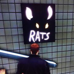 The poster, a possible reference to Ratman.