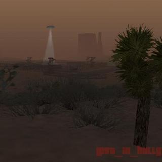 UFO over Area 69.
