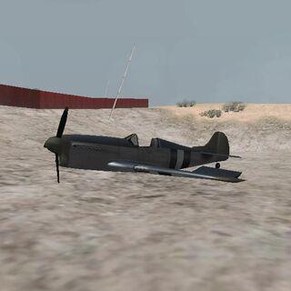 A crashed Rustler near Hunter Quarry.