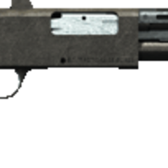 Pump Action Shotgun.