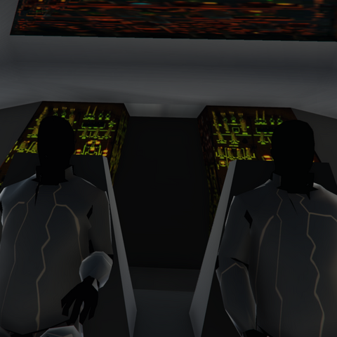 The interior of the Zancudo UFO as seen in-game, taken on the PC version using a free-cam and slow motion mod.