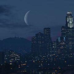 Waning Crescent Moon in GTA V.