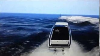 GTA 5 Cop Cars Falling from the Sky into the Ocean