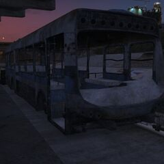 A bus wreck inGTA V.