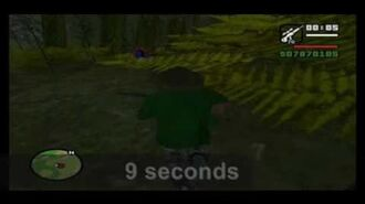 Strange creature in the woods of GTA Sanandreas ( advancing)