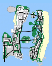 Map Of Grand Theft Auto Vice City