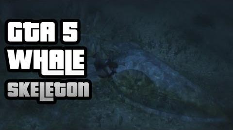 GTA 5- How To Find The Sea Monster (aka Whale Skeleton)