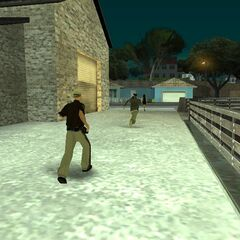 a cop chasing a criminal.
