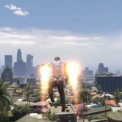 A Jetpack in GTA V.