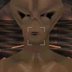 Alien close up.