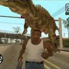 Spinosaurus Aegyptiacus-like dinosaur in Los Santos once more.