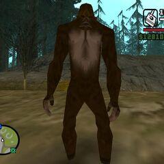 Bigfoot close up.