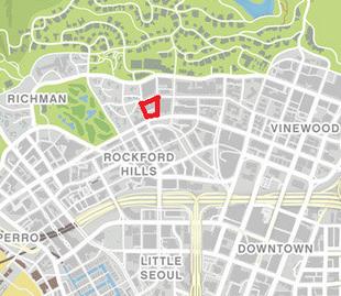 gta 5 city hall location on map