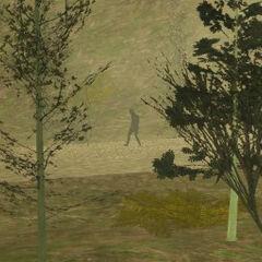 A Bigfoot sighting in GTA SA, most likely fake.