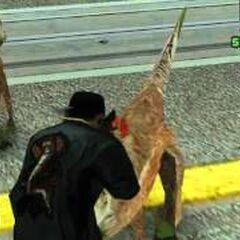 Raptor-like dinosaurs in San Fierro
