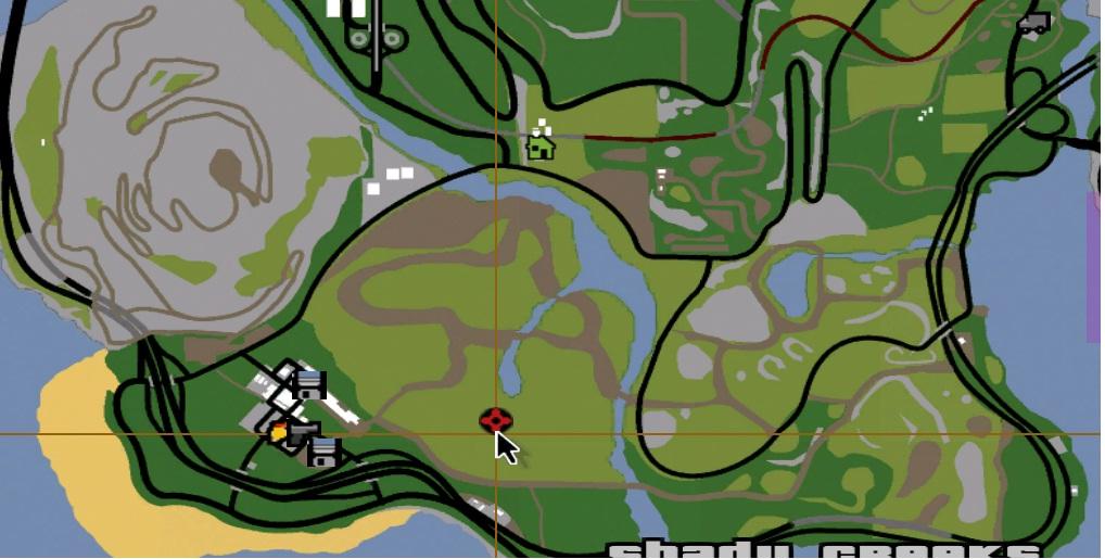 Image Angel on Rock location on mapjpg GTA Myths Wiki FANDOM