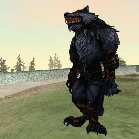 A werewolf mod in GTA San Andreas.