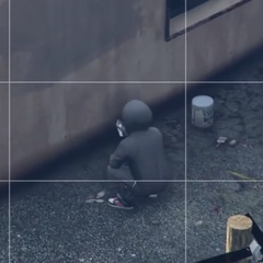 Hooded pedestrian in <i>GTA V</i>.