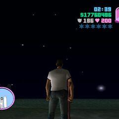 Rockstar star constellation in Vice City.