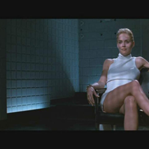 The woman being interrogated in the movie.