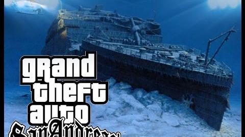 video gta sa titanic underwater gta myths wiki wwi u boat diagram