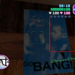 Child artist on the poster of <i>GO BANG!</i>.