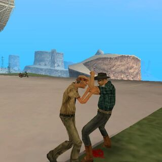 Paranoid Cowboy fighting.