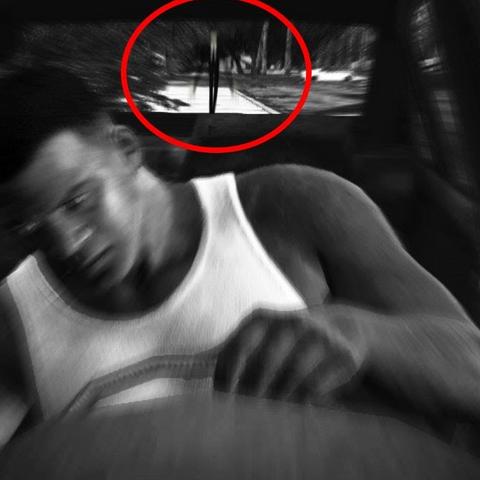 Slenderman sighting in GTA V (most likely false.)