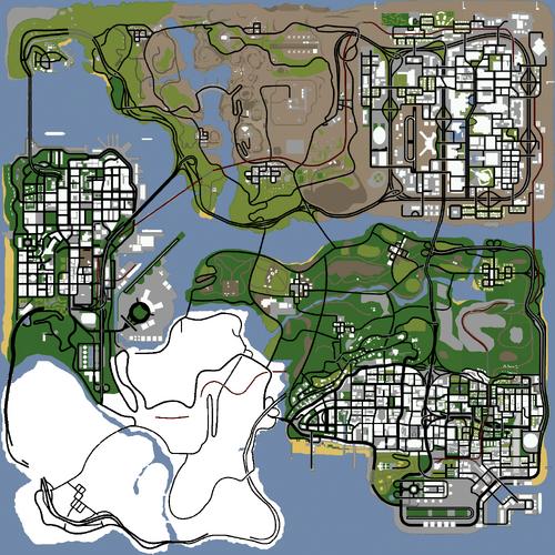 GTA WA 0.1 MAP