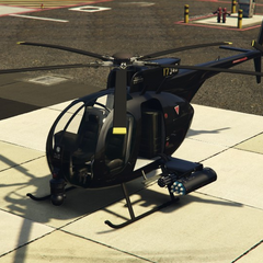 Buzzard Attack Chopper operated by the FIB.