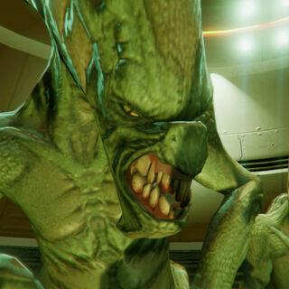 Close up of an Alien.