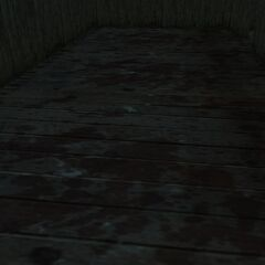 Bloodstains inside the cabin.