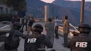 On remballe GTA V (Federal Investigation Bureau de dos)