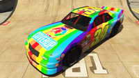 HotringSabre-GTAO-Liveries-34-CoverUpPaints-Red-FrontQuarter