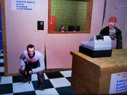 Niko, mielőtt kirabolná az Alderneyben lévő mosoda kasszáját 2