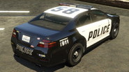 Police Cruiser (Interceptor) GTA V (vue arrière)