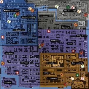 Карта Anywhere City