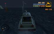 Claude követi a repülőt a tengeren