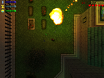Claude lanzando un coctel de molotov