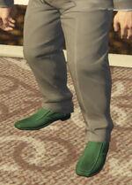 Ponsonbys (V - Zielone buty wsuwane)