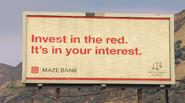 Panneau publicitaire Maze Bank GTAV